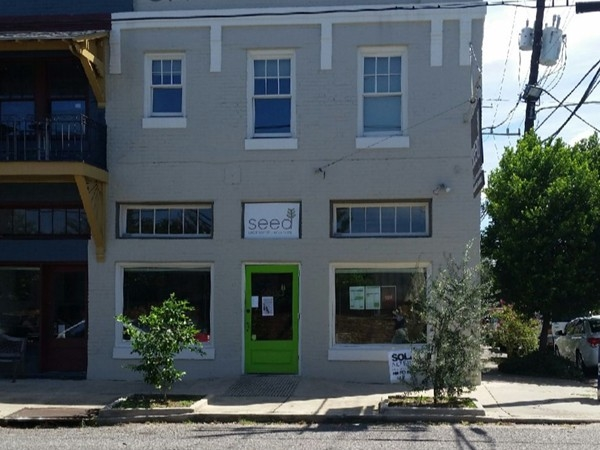 Seed - a vegan restaurant on the corner of Thalia Street and Prytania Street