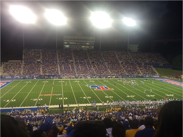 Enjoying Southern University vs LA Tech. Largest crowd In Tech's history of football. 27,000 fans