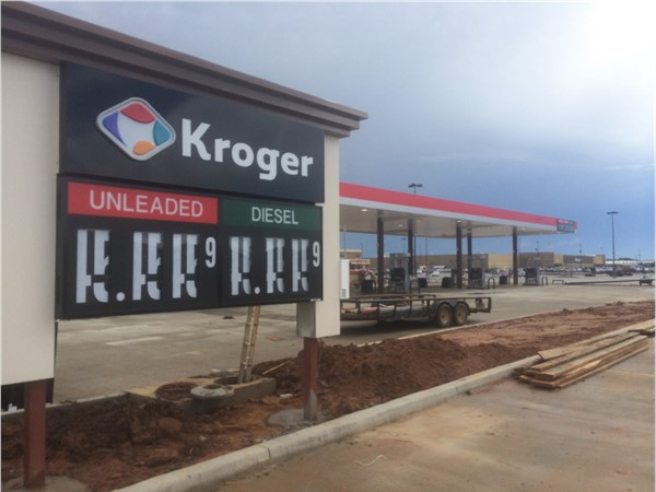 The new Kroger Marketplace on Airline Drive will also include a gas station. Opens this month