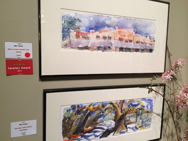 Works of wonderful local artists, like Alix Travis, at En Plein Air 2014