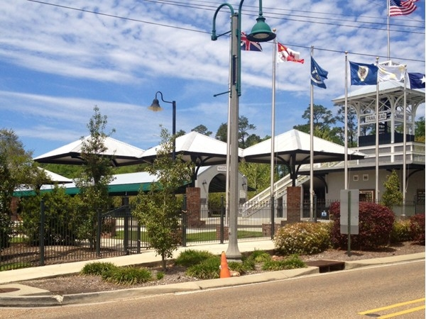 Mandeville Trailhead home of the Saturday morning Farmers market which includes, artisans, music