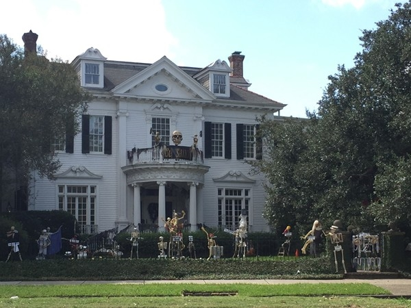 This grand mansion on St. Charles Avenue is a popular sight to see for Halloween