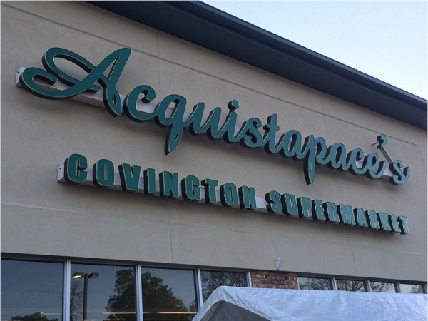Aquistapace's Supermarket on E 21st Ave in downtown Covington.