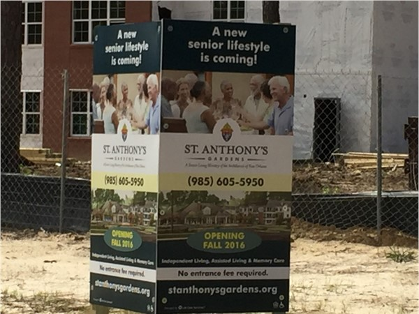 St. Anthony's Gardens - Opening in the fall 2016 - new Senior Living Facility in Mandeville