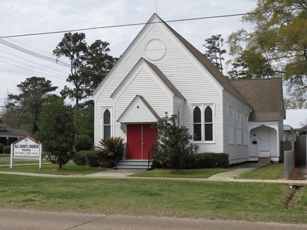 Spend your Sunday at this quaint All Saints Episcopal Church in downtown Ponchatoula