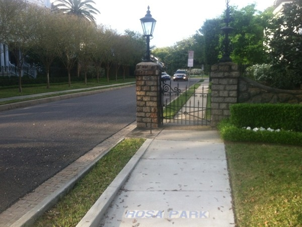 Rosa Park is a part of uptown New Orleans that features beautiful Uptown mansions