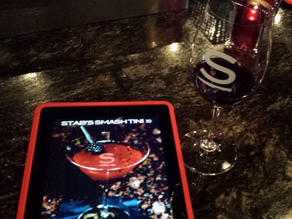 Drink menu on the iPad at Stabs!