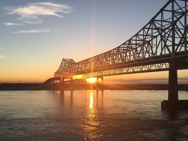 New Orleans sunset on the Mississippi River