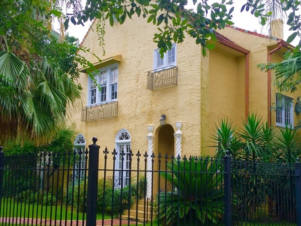 One of the beautiful Spanish Revival homes on Trianon Plaza