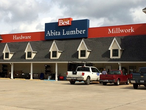 Abita Lumber, located on Hwy 36, has everything from plywood to lawn care