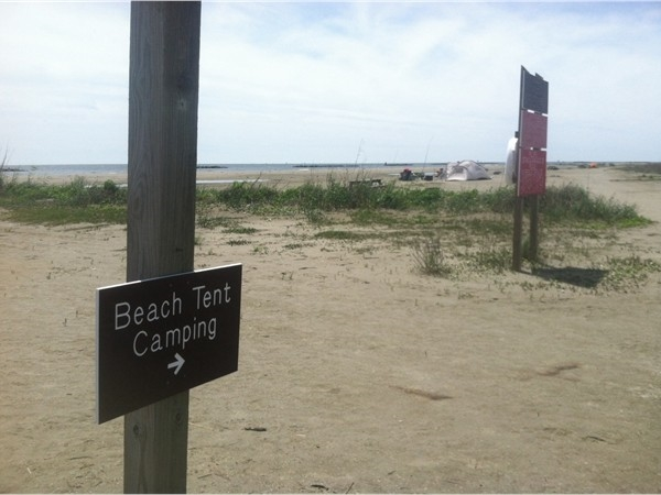 You can camp right on the beach in Grand Isle State Park!