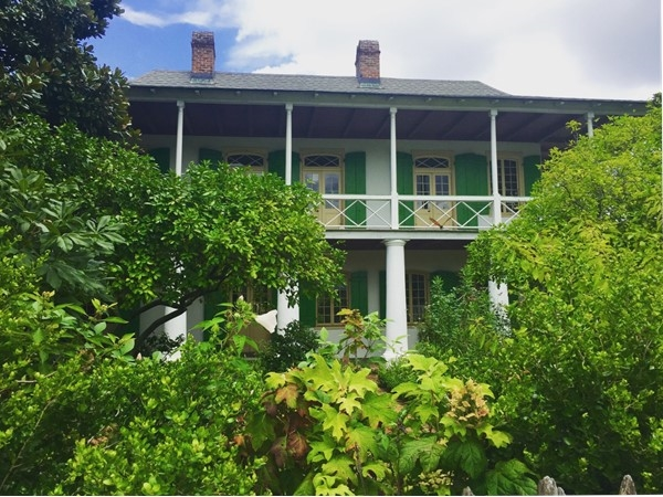 The Pitot House, constructed in 1790's, named after former owner and NOLA mayor James Pilot