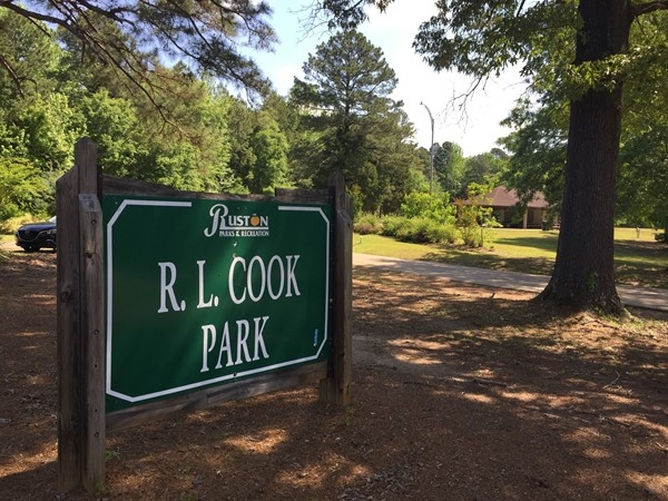 R.L. Cook Park features a playground, a walking trail with exercise equipment and a pavilion