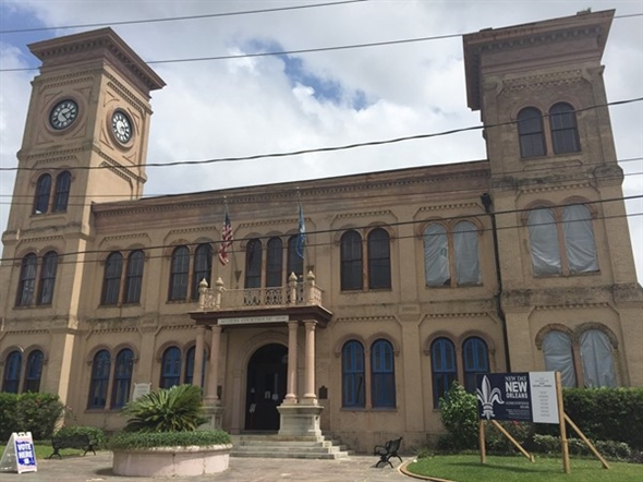"The ""new"" Courthouse built in 1896 after the fire, is still in use but getting a facelift"