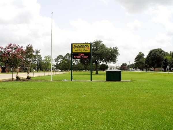Acadiana High School front grounds