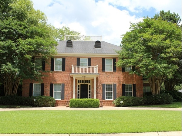Traditional architecture and views of Bayou DeSiard are features of the River Oaks subdivision