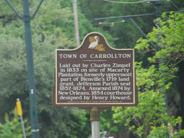 Carrollton Historical Marker