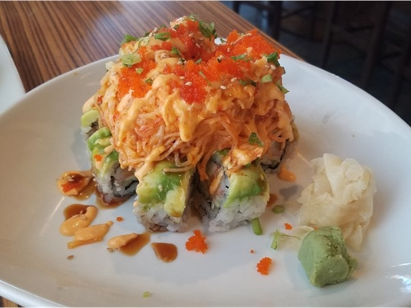 Volcano Roll at Rock n Sake