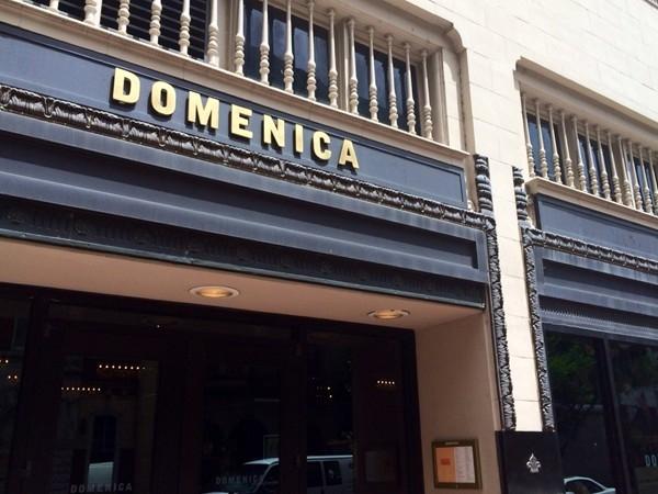 Domenica Restaurant, adjacent to Roosevelt Hotel
