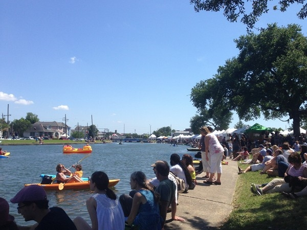 Bayou Boogaloo Festival along Bayou St. John