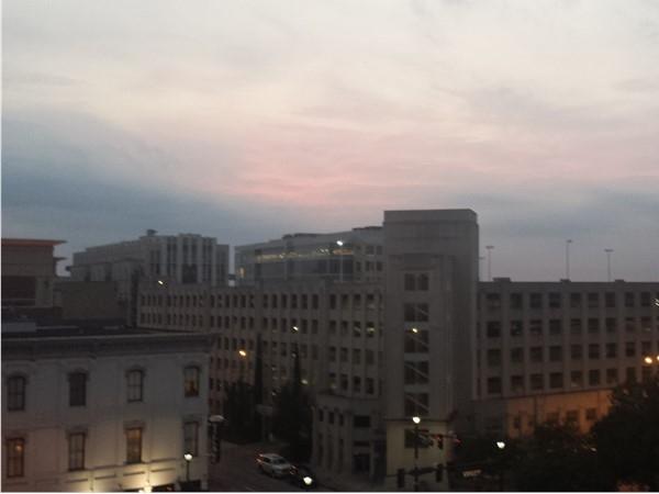 Downtown Baton Rouge sunset