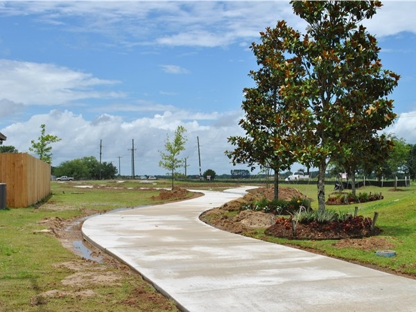 Brand new walking/bike path in Cypress Meadows