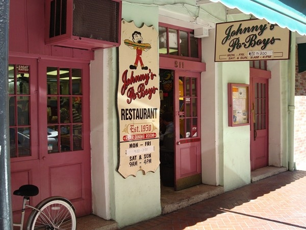 Famous Johnny's Po-Boys, 511 St. Louis St. in the French Quarter! Oldest Family-owned business