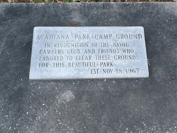 Campground monument