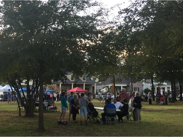 Locals enjoy the Farmer's Market at Provenance
