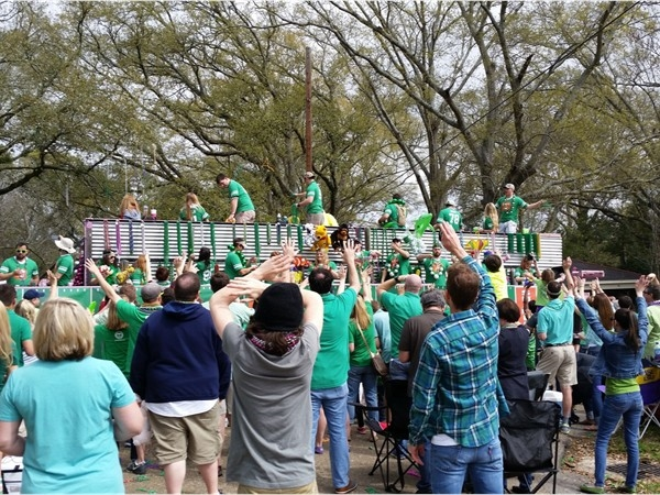 St. Patrick's Day Parade in the Garden District