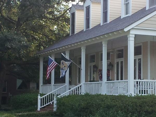 Patriotic Saints! Home Sweet Home! Old Mandeville, Northshore lifestyle