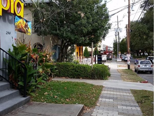 Street scene on Chimes Street bordering LSU