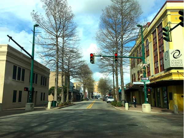 View down Jefferson Street in downtown Lafayette