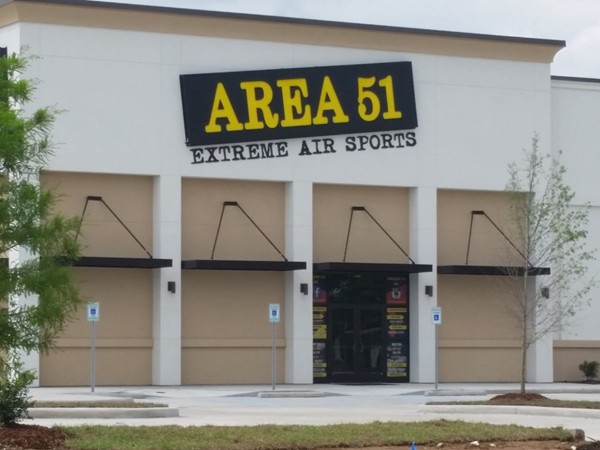 The newly opened Area 51 trampoline park near the Mall of Louisiana