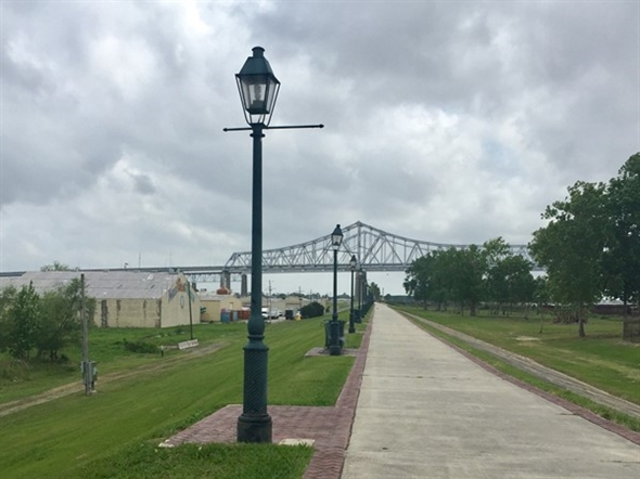 The levee at Algiers Point offers a perfect place to unwind and take a stroll or go for a run