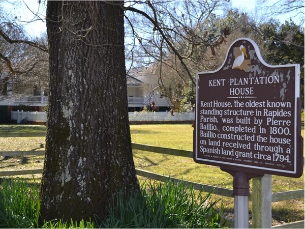 Come get a tour or check out the museum of Kent Plantation House off Bayou Rapides
