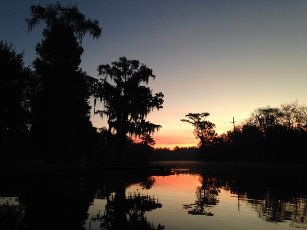 Sunrise on the Blind River, just a stone's throw from Baton Rouge and Ascension Parish