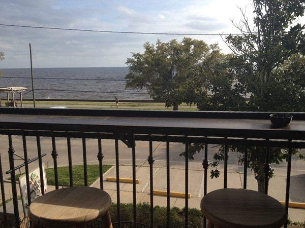 View from the balcony of Barley Oak