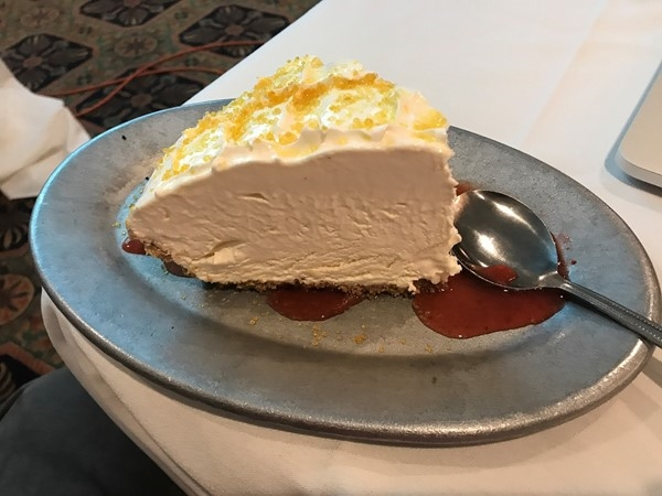 Delicious Lemon Icebox Pie at Mike Anderson's in Gonzales