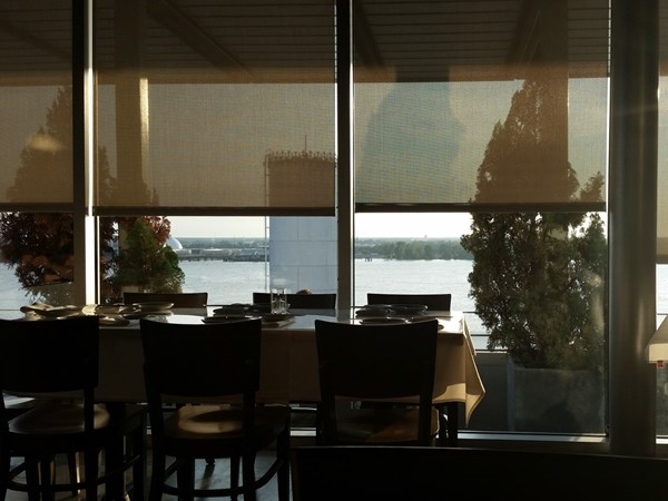 Evening view at Tsunami Sushi Restaurant in Downtown Baton Rouge