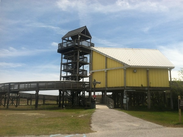 Observation deck at Grand Isle State Park