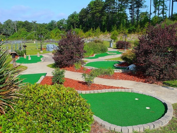 Fore! The Excalibur Family Entertainment Center has a great putt-putt course for all ages