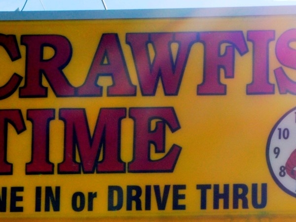Any time is crawfish time in Louisiana! Located on Ridge Road