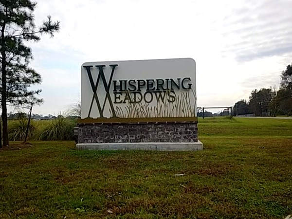 Entrance for Whispering Meadows
