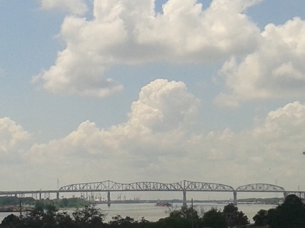 Spectacular view across the Mighty Mississippi, New Orleans