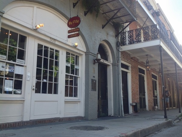 DeVille Crepe and Coffee Cafe on Dumaine Street