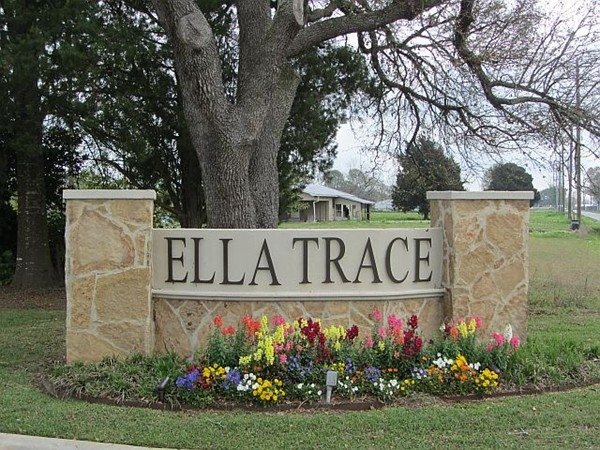 Lush entry into Ella Trace Subdivision, Youngsville