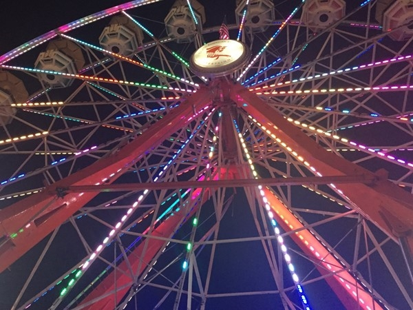 The huge ferris wheel is just one of the many great features of the yearly Thibodaux Fireman's Fair
