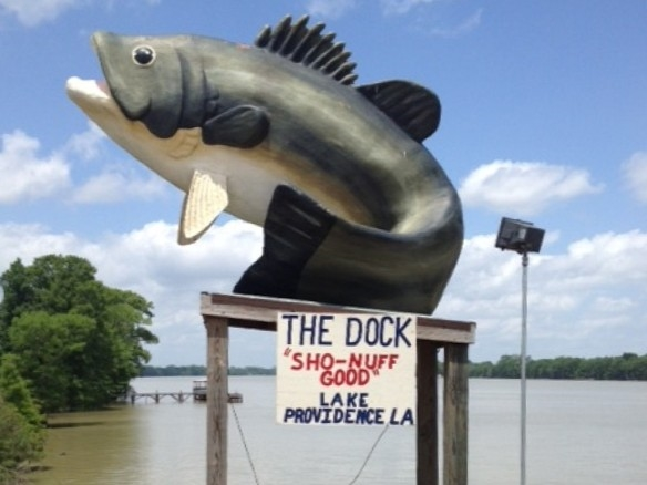 "For a great meal with a view, visit ""The Dock"" restaurant for cajun cuisine to sandwiches"