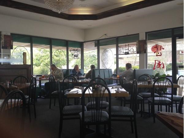 Inside the Sesame Inn Chinese restaurant